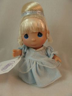 "Cinderella Mini Moments 5"" Vinyl Doll #5264 Disney Precious Moments Signed #PreciousMoments #Dolls"
