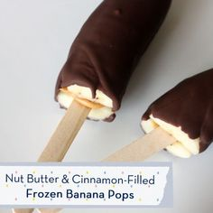 Nut Butter and Cinnamon-Filled Frozen Banana Pops