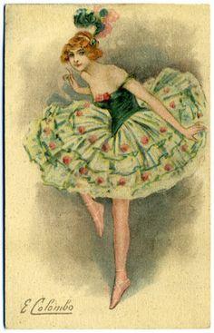 Открытки старинные с балеринами