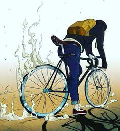 Road Bike Illustration Fixed Gear 29 Super Ideas Fixi Bike, Bicycle Art, Bicycle Design, Bike Rides, Cycling Art, Cycling Bikes, Cycling Quotes, Cycling Jerseys, Road Cycling