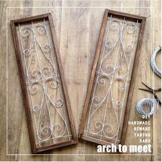 ワイヤーでなんちゃって飾り窓枠 の画像 arch to meet プリザ&DIY…ちょこっと多肉