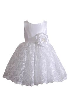 Kleinfeld Pink Kleinfeld Pink 'Tara' Sleeveless Lace Dress (Baby Girls) available at #Nordstrom