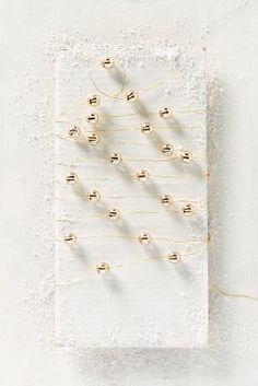 Anthropologie Shining Stripe String Lights