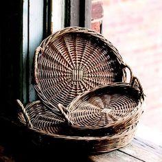 round rattan tray - Google Search