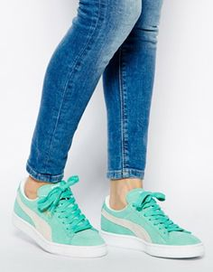 Puma Suede Classic Green Sneakers