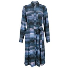 Oliver Bonas Cosmic Print Shirt Dress