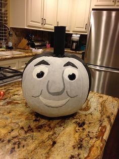 thomas pumpkin template - thomas the train pumpkin hand painted pumpkins 2012