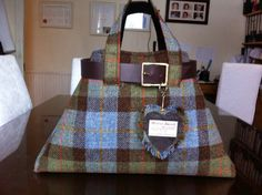 Harris tweed bag/purse made in Scotland by Scotswhahae on Etsy, $150.00