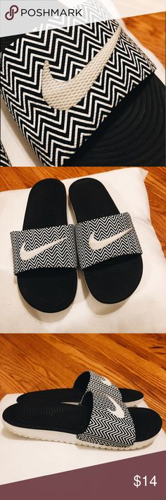 Nike slides women's ⭐️worn twice  ⭐️perfect condition  ⭐️size 8 - I'm a 5.5 and these run small! Nike Shoes Sandals