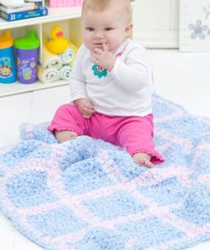 Stay tuned for my pattern based on this one!!  Simple Squares Blanket Crochet Pattern | Red Heart