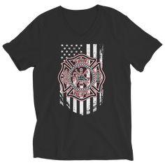 Firefighter T-shirt-Ladies V-Neck