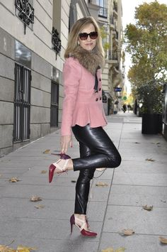 www.streetstylecity.blogspot.com Fashion inspired by the people in the street ootd look outfit sexy leather pants heels