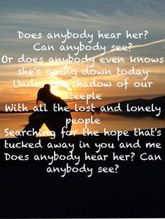 Does Anybody Hear Her? by Casting Crowns