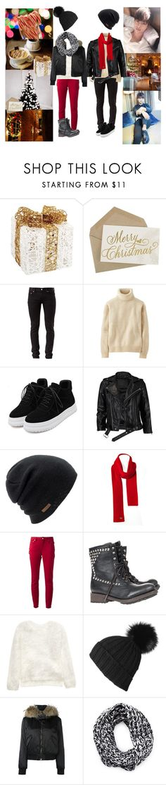 """Cozy Day with Hakyeon"" by carrie-lynn ❤ liked on Polyvore featuring Melrose International, BLK DNM, Uniqlo, WithChic, VIPARO, Coal, Lacoste, A.P.C., Ash and Black"