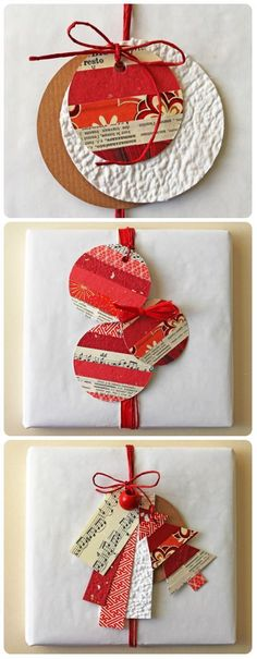 """Really simple handmade wrapping ideas out of christmas cards - Christmas ● DIY ● Tutorial ● creative recycling: paper gift tags ~ See My Board """"Creative Wrapping"""" for more Wrapping Inspiration Christmas Gift Wrapping, Diy Christmas Gifts, Handmade Christmas, Recycled Christmas Cards, Recycled Christmas Decorations, Creative Gift Wrapping, Wrapping Ideas, Old Christmas, Christmas Sheets"""