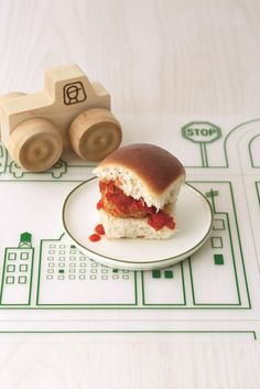 "Meatballs with Easy Tomato Sauce, Sliders for Kids  *from ""Real Baby Food"""