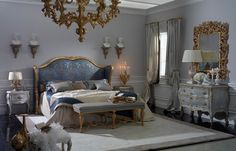 Versailles bedroom, Rubelli fabrics