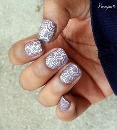 Pinezoe Blog Nail Art: Bourjois - Fashion Gris Gris & Stamping Arabesque Born Pretty Store