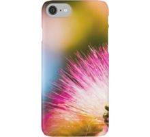 Exotic summer pink silk tree mimosa iPhone 5 6 7 Case/Skin by #PLdesign #summer #exotic #pink #redbubble