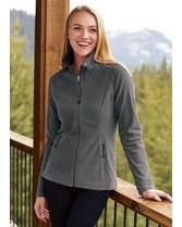 Micro Fleece Full Zip Ladies' Jacket Outerwear Women, Eddie Bauer, Stylish, Lady, Centre, Sleeves, Contrast, How To Wear, Plush