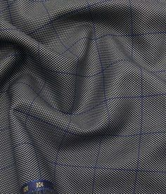 Grado by Grasim Grey Polyester Viscose Structured Cum Checks Unstitched Suiting Fabric Suit Fabric, Grey Fabric, Mens Fashion Suits, Mens Suits, Royal Blue Mens Suit, Suit Pattern, Stylish Mens Outfits, Self Design, Dapper Men