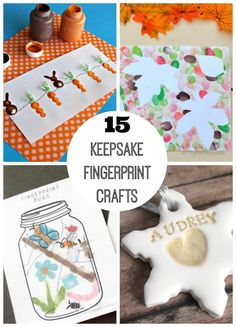 If your child loved finger paints as a toddler, they're bound to love these fingerprint crafts too. So many fun things to be created with a fingerprint!