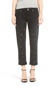 Hudson Jeans Riley Grommet Boyfriend Jeans available at #Nordstrom