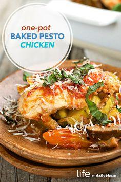 Easy One-Pot Baked Pesto Chicken Recipe