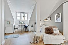 Attic studio apartment