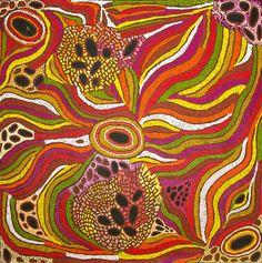 "Aboriginal art painting by lynette corby nungurrayi ""my coun Aboriginal Patterns, Aboriginal Dot Painting, Painted Rocks Kids, Maori Art, Famous Art, Indigenous Art, Australian Artists, Fabric Paper, Tribal Art"