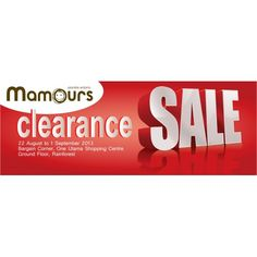 Mamours Clearance Sale