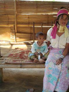 Kharen wife with her littlest child