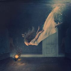 "Amazing picture by photographer Brooke Shaden. Self portrait called ""the deepest place"". ✨"