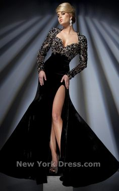 Tony Bowls TBC007  Structured Embellished Evening Gown with Bolero Shrug by Tony Bowls Couture