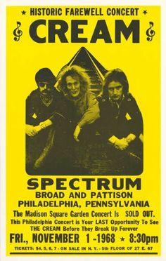 Cream - Concert Poster (1968)