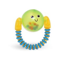 Learning Curve Spinning Rattle by TOMY. $5.97. Smiling face makes fun noises with every spin. Easy to hold textured handle. Newborn and above. Filled with colorful beads. From the Manufacturer                Fun rattle filled with beads is easy for baby to spin and hold. Textured handle is perfect for teething babies.                                    Product Description                Fun rattle filled with beads is easy for baby to spin and hold! Fun for baby and caregiver! T...