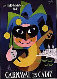 Cartel Carnaval de Cadiz año 1983