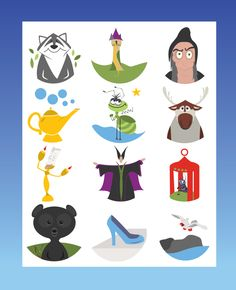 icons by student Tiffany Osborn