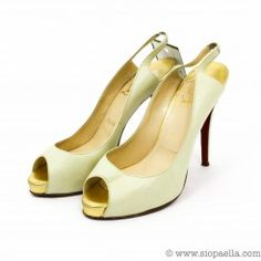 Christian Louboutin Cream Peep-toe Heels- UK Size 7  Shop 24/7 on www.siopaella.com  We ship worldwide
