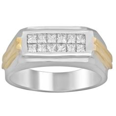 Artistry Collections Men's 14k 3/4 ct TDW Diamond Ring