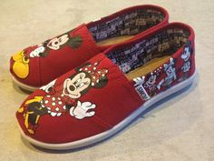 Custom+Hand+Painted+Shoes++Minnie+and+Mickey+Mouse+by+RyTee,+$165.00