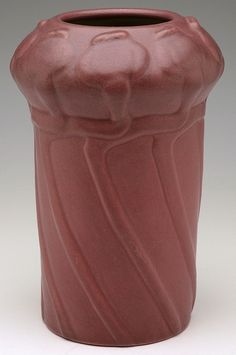 Van Briggle Pottery poppy pod vase, dated 1903, 10-1/2 inches high. Arts and Crafts Movement. www.treadwaygallery.com