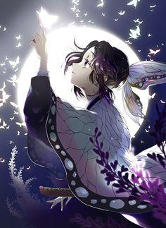 Kimetsu no yaiba / Demon slayer : Shinobu Kocho Anime Angel, Ange Anime, Anime Demon, Anime Love, Fan Art Anime, Anime Art Girl, Otaku Anime, Chica Anime Manga, Demon Slayer