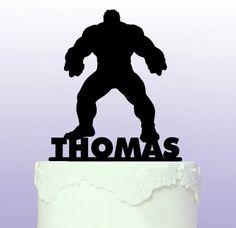 Personalised Hulk Superhero Cake Topper