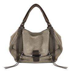 Kooba Jonnie pebble leather shopper tote bag in Armadillo