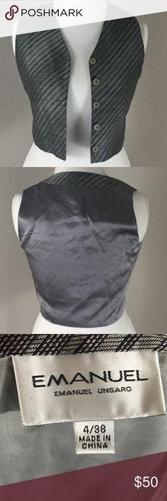 Emanuel Ungaro Vintage Silk Vest • Buttoned up front.  • Fully lined. • Garment's shell is 100% silk.  • Lining is 100% acetate. Emanuel Ungaro Jackets & Coats Vests