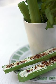 20 Retro Appetizers ... e.g. cream cheese stuffed celery. My mom always makes this for Thanksgiving before the main event. I love this appetizer. Good for you and not heavy. Reminds me of home.