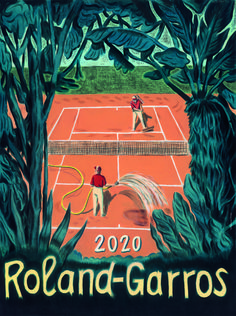 For 40 years, it is an artist chosen by the French tennis federation who has produced the poster for the famous Roland Garros tournament. The artist, Pierre Sei Photography Contests, Art Photography, Judo, Taekwondo, Gq, Tennis Posters, Wes Anderson Movies, Classic Paintings, Sports Art