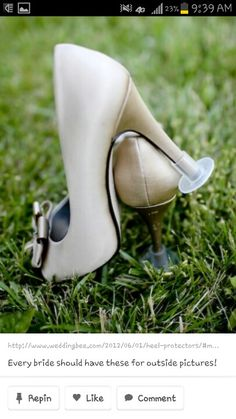 Available at Bridal Connection in Ankeny! A must have for an outside wedding! #bridalconnectionankeny #outdoorwedding #luvshoes