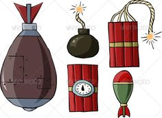 Realistic Graphic DOWNLOAD (.ai, .psd) :: http://jquery-css.de/pinterest-itmid-1003193164i.html ... Bombs ...  bomb, cartoon, clockwork, dynamite, explosive, fun, fuse, icon, illustration, isolated, projectile, symbol, tnt, vector, weapon  ... Realistic Photo Graphic Print Obejct Business Web Elements Illustration Design Templates ... DOWNLOAD :: http://jquery-css.de/pinterest-itmid-1003193164i.html